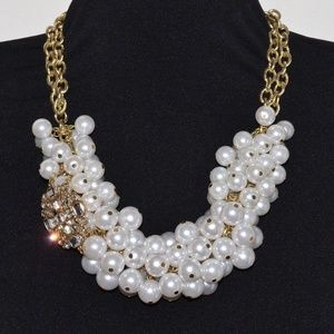 Statement Necklace Faux Pearls Beaded Jewelry 💖✨
